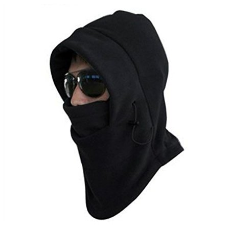 Winter Wear Warm 6 in 1 Adjustable Fleece Hood, Scarf, Cold Weather Cap and Face Mask
