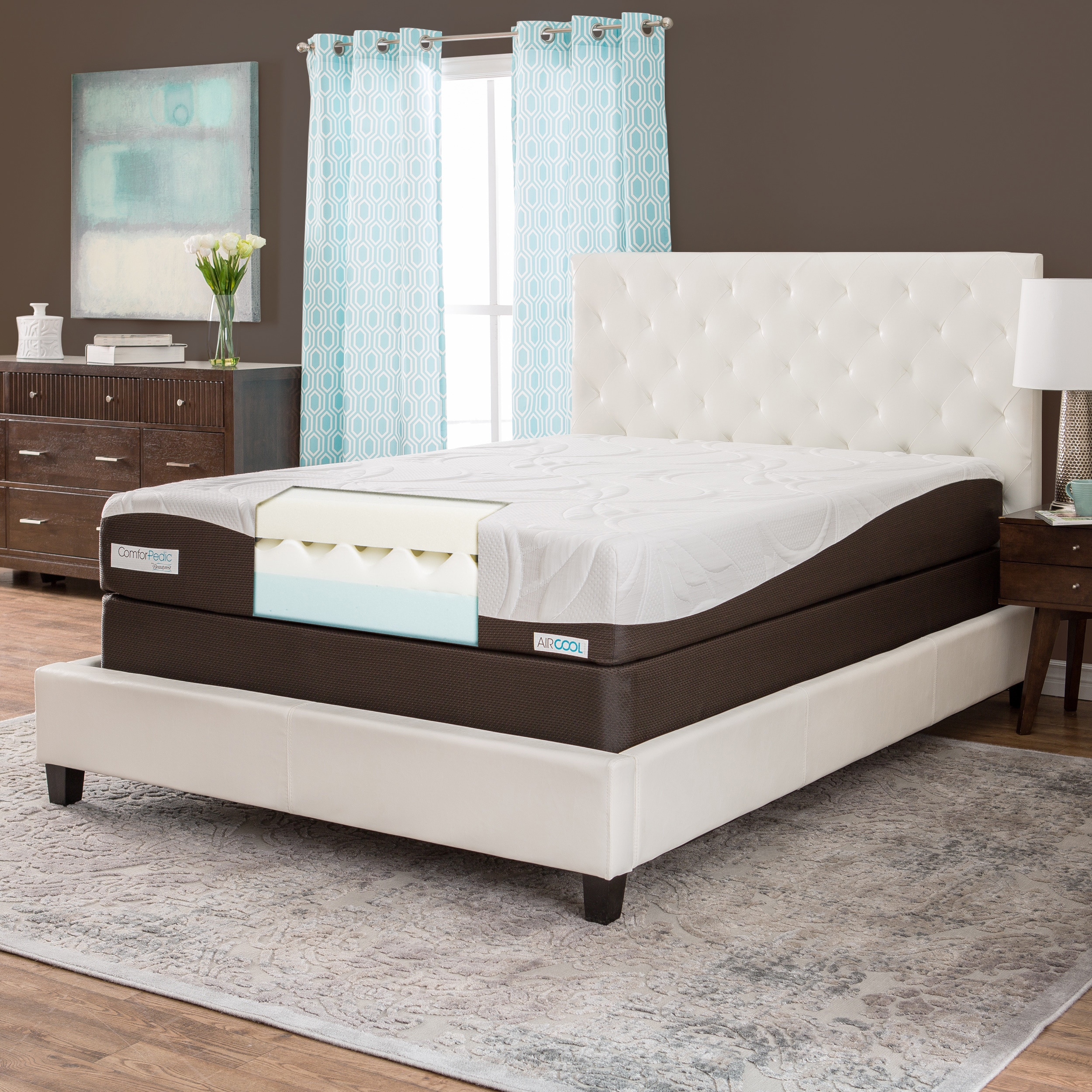 Simmons Beautyrest ComforPedic from Beautyrest 10-inch Queen-size Memory Foam Mattress Set by Overstock