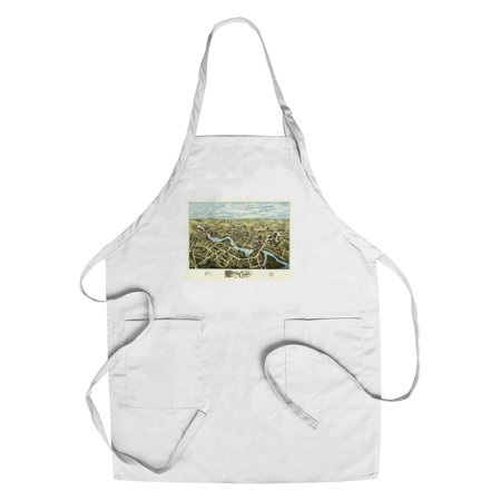 Putnam, Connecticut - Panoramic Map (Cotton/Polyester Chef's Apron)