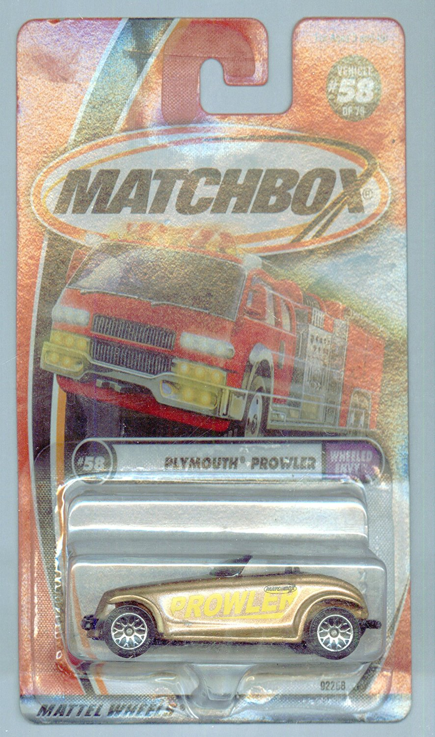 2001-58 75 Wheeled Envy Plymouth Prowler 1:64 Scale, Matchbox By Matchbox by