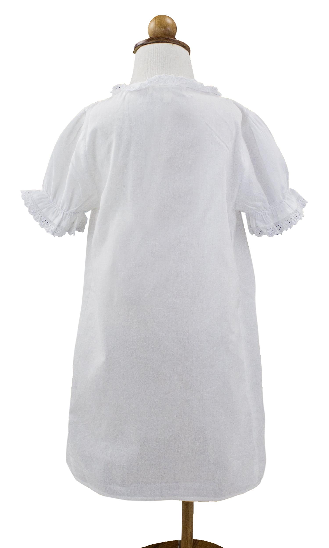 fa175497fa5 StylesILove - Handmade Girls  Embroidered Lace Cotton Night Dress Sleepwear  White - Age 2-12 (Ruffle Lace Cuffs