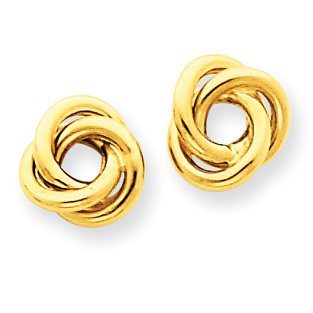 Lex & Lu 14k Yellow Gold Polished Knot Post Earrings LAL83126