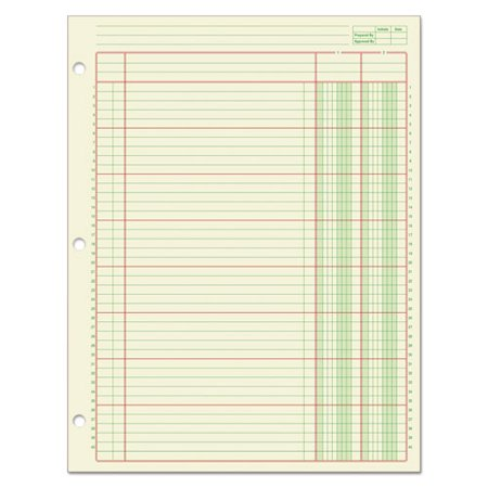 Adams® Columnar Analysis Pad, 2 Column, 8 1/2 X 11, Single Page Format, 50 - Two Pages Column
