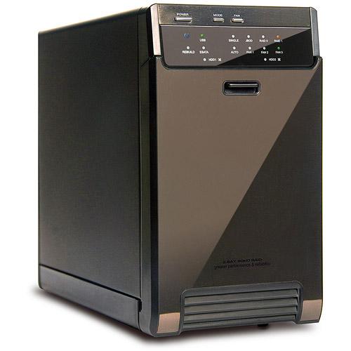 """Mediasonic HUR3-SU3S3 2-Bay 3.5"""" SATA HDD Enclosure, Black"""