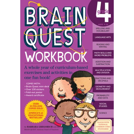 Brain Quest Workbook: Grade 4 - - Brain Breaks For The Classroom