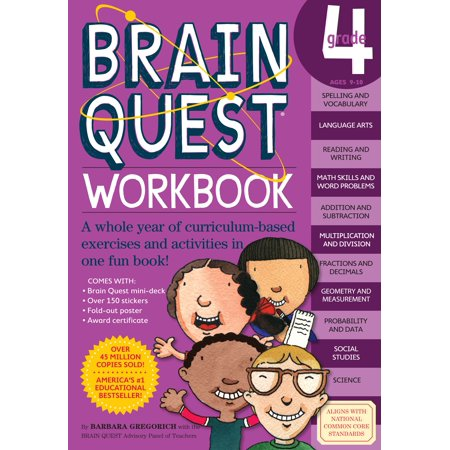 Brain Quest Workbook: Grade 4 - Paperback (Halloween Art For Grade 4)