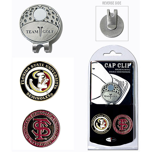 Team Golf NCAA Florida State Cap Clip With 2 Golf Ball Markers