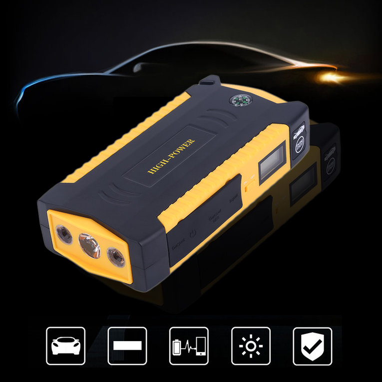 Professional 4USB LCD Display Car Jump Starter Emergency ...