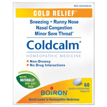 Boiron Coldcalm, Homeopathic Medicine for Cold Relief, 60 Count (Over The Counter Medicine To Help With Anxiety)