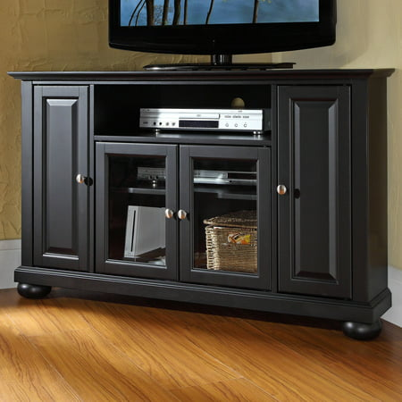 Crosley Furniture Alexandria Corner TV Stand for TVs up to (Crosley St48 Turntable Entertainment Center Stand Cherry)