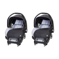 Baby Trend Ally Adjustable 35 Pound Infant Baby Car Seat w/Base, Stormy (2 Pack)