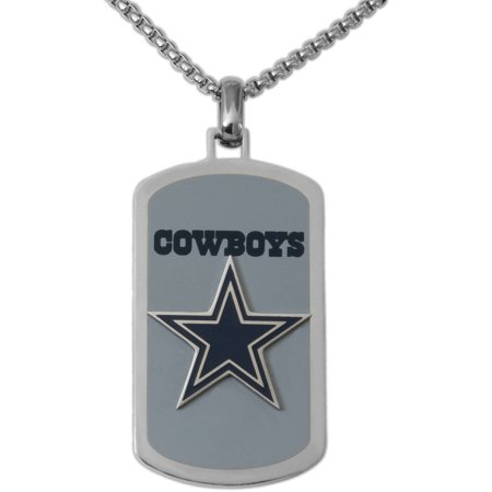 Stainless steel licensed nfl dallas cowboys dog tag logo pendant 22 stainless steel licensed nfl dallas cowboys dog tag logo pendant 22 chain aloadofball