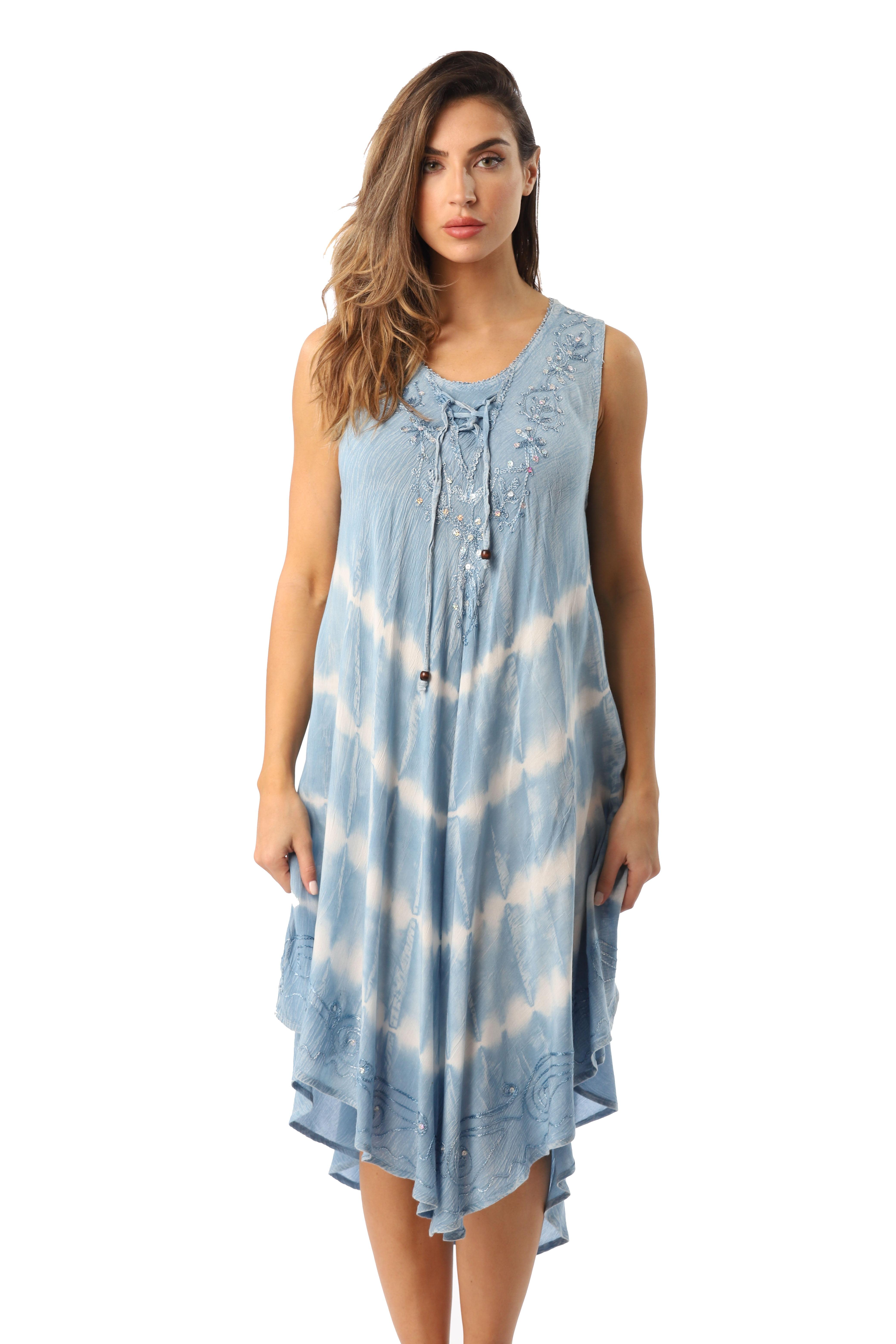 LAffair Ladies Umbrella Cut Maternity Pregnancy Floral Print Sleeveless Lightweight Casual Beach Summer Dress