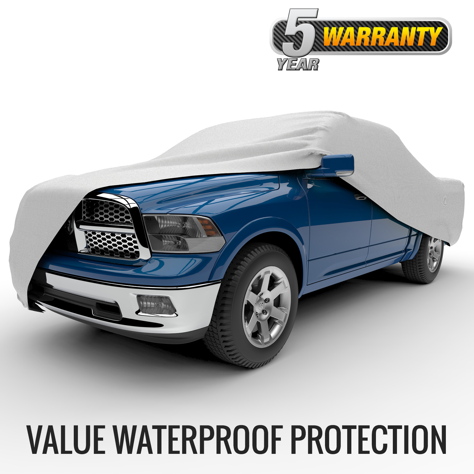 "Budge Rain Barrier Truck Cover, Waterproof Outdoor Vehicle Protection, Size T-4X: Fits up to 249"" L"