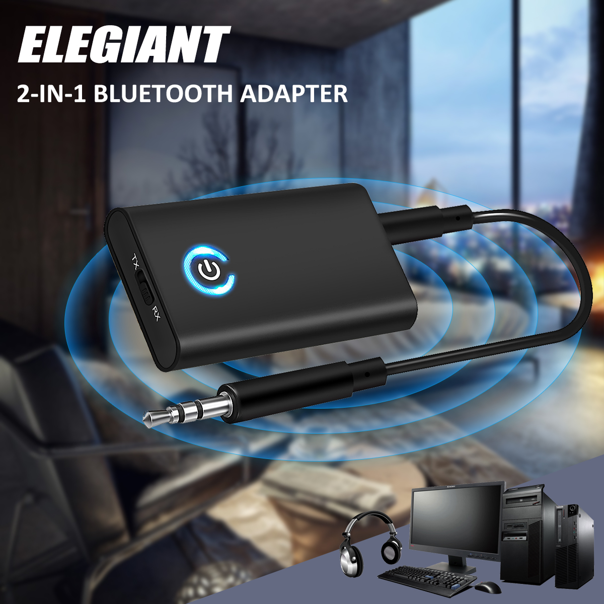 ELE bluetooth 4.1 Transmitter + Receiver TaoTronics Stereo Audio Music Adapter