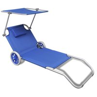 Sun Loungers Outdoor Folding Garden Beach Lying Chairs Noon Break Balcony Canopy Lounger
