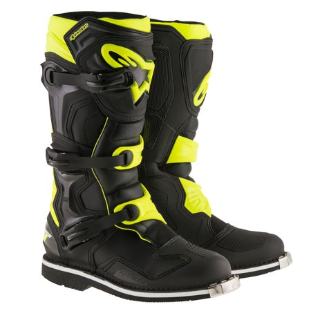 Alpinestars Smx Plus Street Boots (Alpinestars Tech 1 Mens MX Offroad Boots Black/Yellow)
