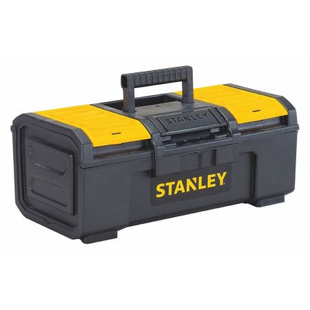 stanley hand tools stst16410 16 black yellow auto latch tool box