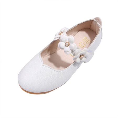 Children shoes Girl Fashion Flower Kid shoes Solid All Match Casual shoes WH/29](Flower Girls Shoes)