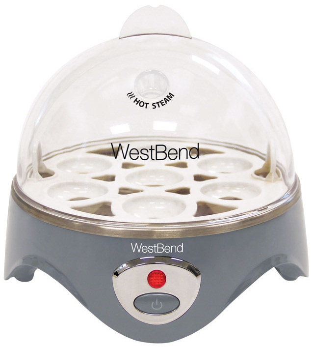 West Bend 87628 Egg Cooker, Plastic, Silver