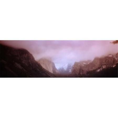 Ca Panoramic Map - Yosemite Valley CA USA Poster Print