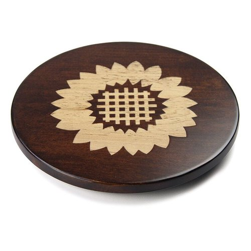 Martins Homewares 85056M Artisan Woods Sunflower Trivet, Brown - 0.75 x 8 in.