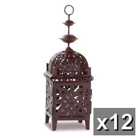 GHP Set of 12 Exotic Moroccan Look Wedding Decor Candle Lanterns