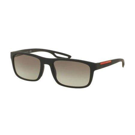 PRADA SPORT Sunglasses PS03RS DG00A7 Black Rubber 56MM