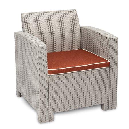 Awe Inspiring Weather Outdoor Patio Garden Furniture Sofa Set Gray Whitesingle Sofa Pabps2019 Chair Design Images Pabps2019Com