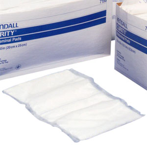 "Tensorb Wet-Pruf Nonsterile Abdominal Pads 8"" L x 10"" W, Nonsterile [ Sold by the Case, Quantity per Case : 432 EA, Category : Non-Impregnated Gauze, Product Class : Wound Care ]"