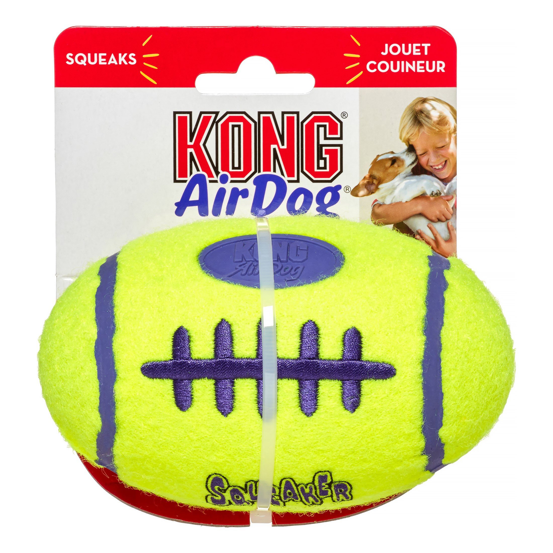 KONG AirDog Squeaker Foorball Dog Toy, Medium