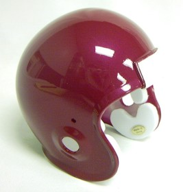 Micro Football Helmet Shell - Cardinal Metallic