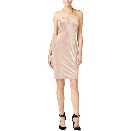 Guess Womens Velvet Halter Slip Dress Pink XS