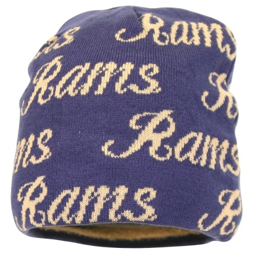 "Women's NFL Reversible ""Script"" Winter Knit Hat   Beanie (St. Louis Rams) by"
