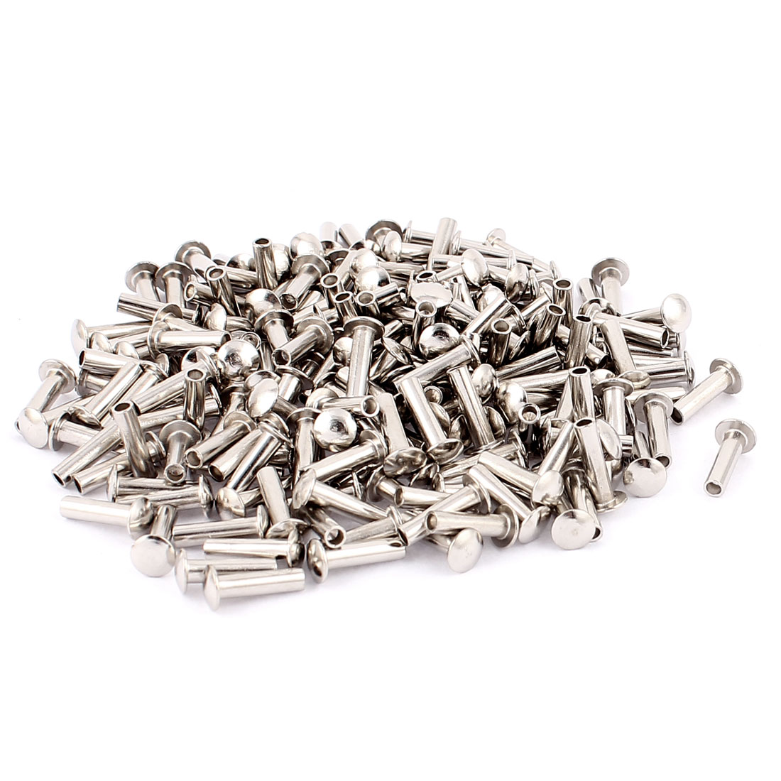 Unique Bargains 200 Pcs M3 x 11mm Nickel Plated Truss Head Semi-Tubular Rivets