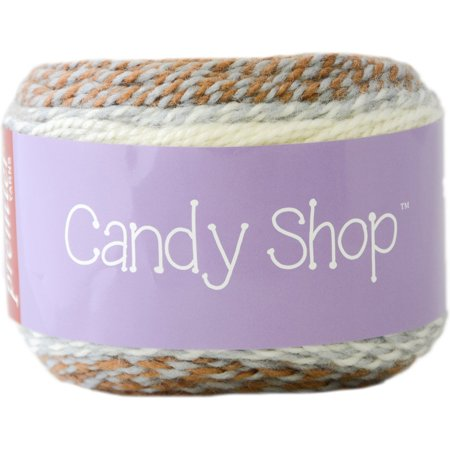 Two Strand Twists - 1057-10 Candy Shop Yarn-Caramel, Candy shop is a self-striping yarn with a twist! two strands of soft Acrylic are dyed separately in 3 coordinating colors By Premier Yarns