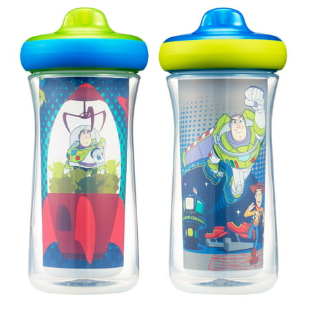 Toy Story Cup (Disney Pixar Toy Story Insulated Hard Spout Sippy Cups With One Piece Lid, 9 Oz, 2)