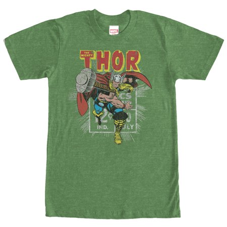 Marvel Men's Thor Comic Book Cent T-Shirt (Thor Suits)