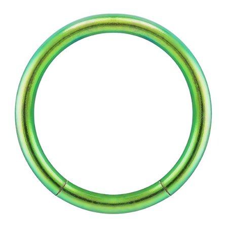 Black Titanium Segment Rings - 14G Titanium-Plated Seamless Segment Captive Ring