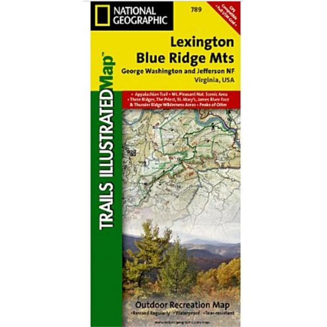 National Geographic TI00000789 Carte de Lexington-Blue Ridge - Virginie - image 1 de 1