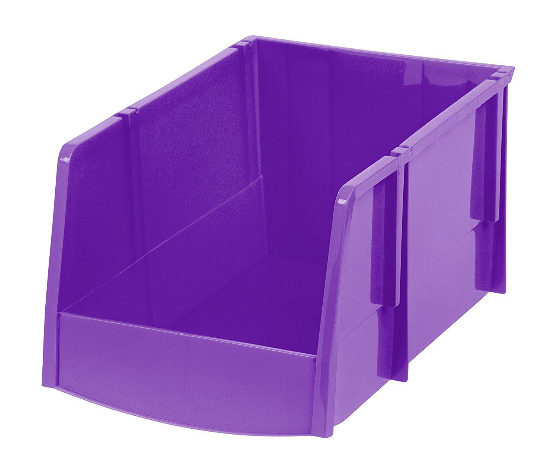 IRIS Jumbo Storage Bin, Purple, 6 Pack by IRIS USA, Inc.