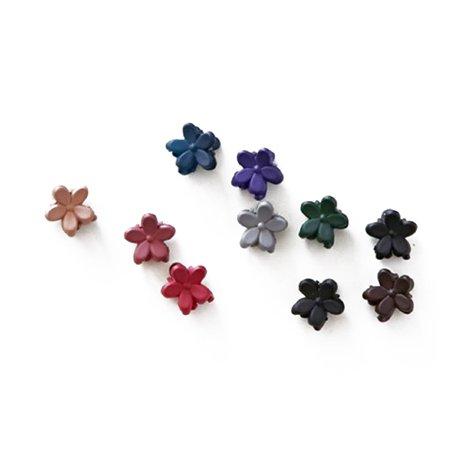 Girls Flower Shaped Mini Hair Claws / Hair Pins / Hair Clips,10pcs Pack