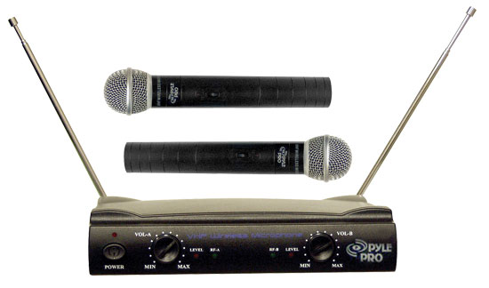 Pyle Pro PDWM2500 Dual VHF Wireless Microphone System by Pyle