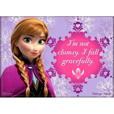 Frozen Magnet: I'm not clumsy, I fall gracefully, Officially Licensed Products Assorted Artworks - Size - 3.5