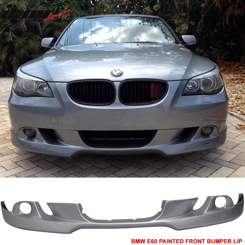 04-07 BMW E60 5-Series Front Bumper Lip AC Style Paint Ti...