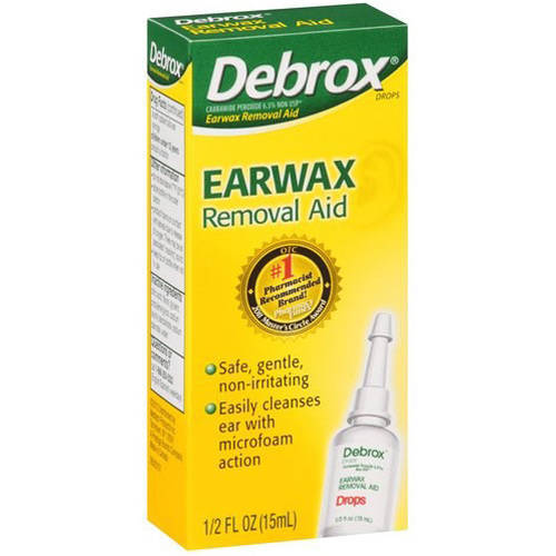 Debrox Earwax Removal Aid, .5 OZ (Pack of 4)