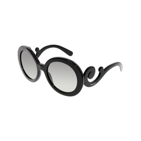Prada Women's Gradient PR27NS-1AB3M1-55 Black Round (Cheap Prada Sunglasses Online)