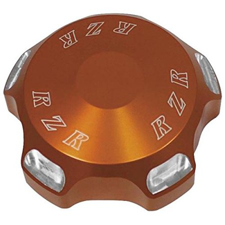 Gas Cap - Logo - Orange RZR-GC-OR, Made from 6061 billet aluminum and polished or Modquads hard anodized By -