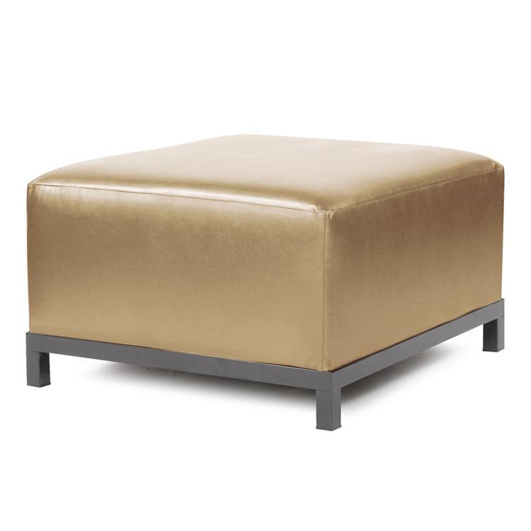 Axis Ottoman Luxe Gold Titanium Frame by