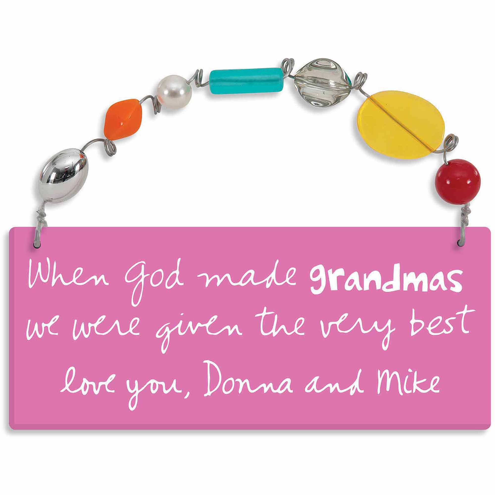 Personalized Sandra Magsamen When God Made Grandmas Wall Plaque with Message